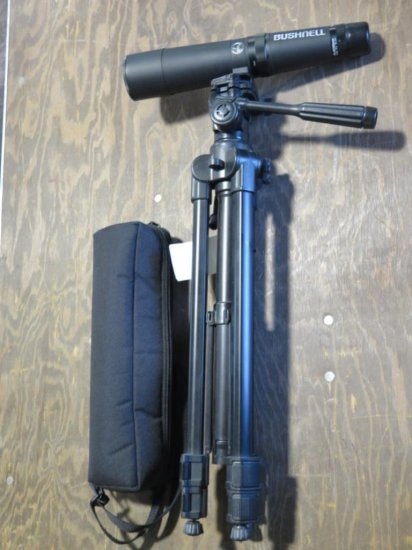 Bushnell spotting scope and tripod. (entry level), tag#6828