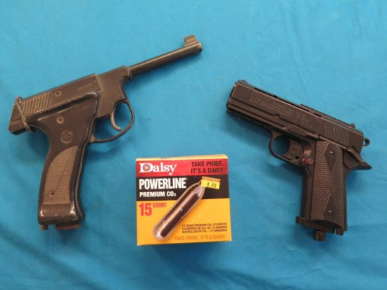 Plainsman 175 & Powerline 15XT .177 CO2 BB guns w/cartridges, tag#7018