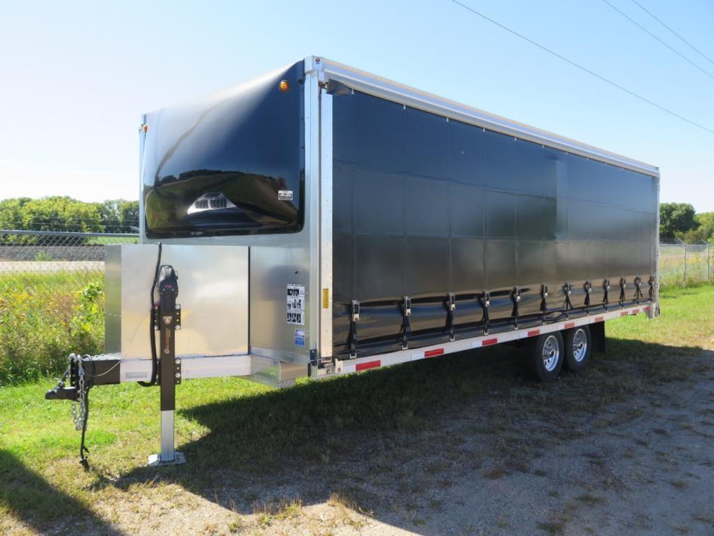 2017 Montrose 26' aluminum 10000# curtain side enclosed trailer, electric j