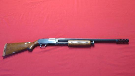 JC Higgins model 20 12ga pump, VR barrel, tag#7544