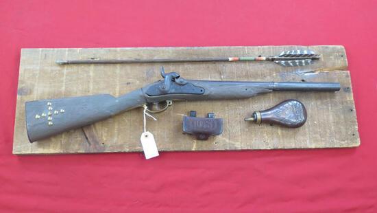 Civil War era musket converted to carbine muzzleloader (antique) for use on