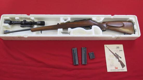 "Heckler Koch Model 300 .22 Magnum Semi-Auto, Clip Feed (2 """" 5 shot and 2 -"