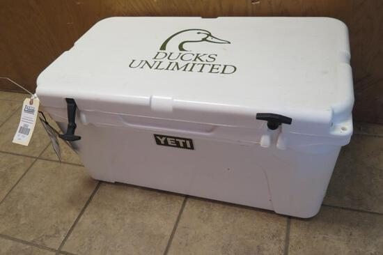 Yeti 65 quart cooler, never used, Ducks Unlimited edition, tag#1312