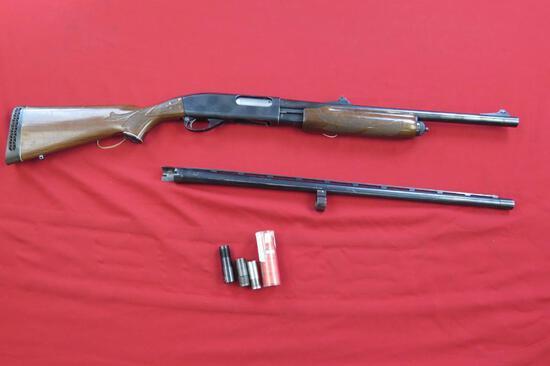 Remington 870 Wingmaster 12ga pump, slug BBL with 3 chokes, rifled/mod & im