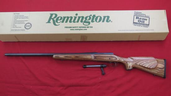 "Remington 700 Varmint 6mm bolt rifle, 26"" bull barrel, laminated stock, tag"