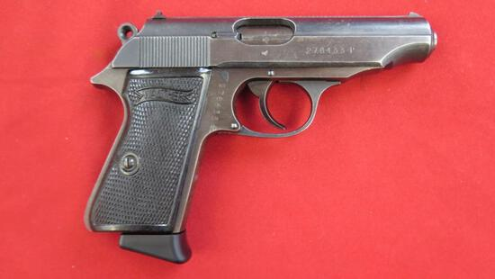 Walther PP 7.65/.32 semi auto pistol, German markings, tag#1391