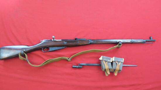 Mosin Nagant 91/30 7.62x54r bolt, not counter bored, matching serial number
