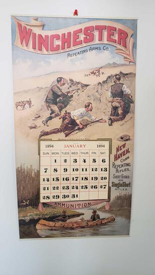 Winchester calendar, 1894, reprint, tag#1448