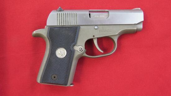 Colt Pony .380 semi auto pistol, alloy frame, 1991, rare, tag#1491