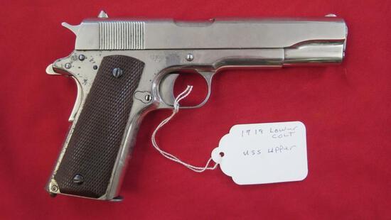 Colt 1911 .45Auto semi auto pistol, with 1919 /Colt lower, Union Switch Sig