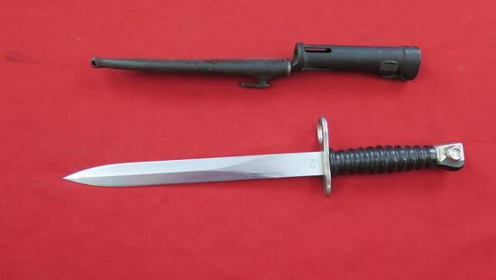 """2 Bayonets, one with scabbard, up to 14 1/2"""", tag#1564"""
