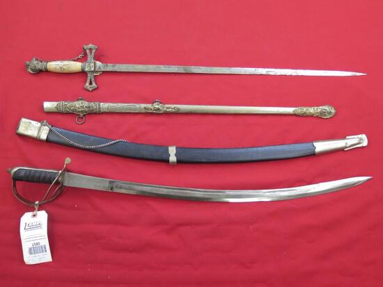 """2-swords made in Ohio and India, up to 39"""", tag#1580"""