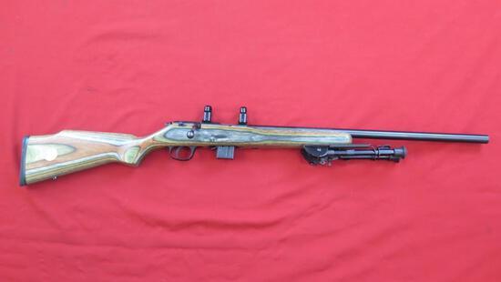 Marlin 917V .17HMR bolt rifle with bi-pod, scope rings, tag#1586