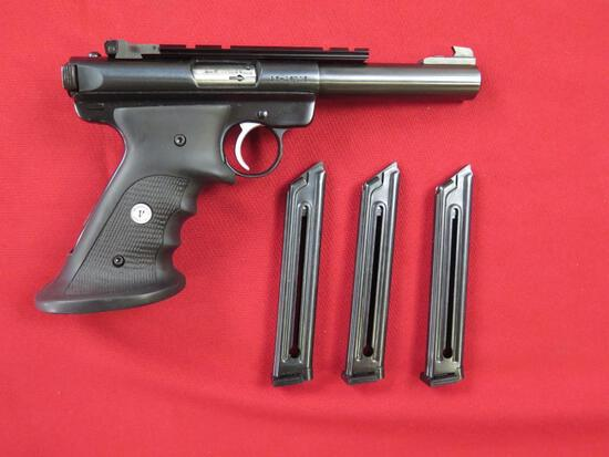 Ruger Mark II Target .22LR semi auto pistol, bull barrel, Volquartsen molde