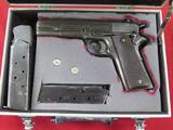 Colt 1911 US Army .45ACP semi auto pistol, 2 mags, & case~3367