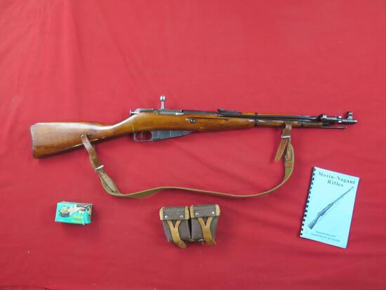PW Arms M44 Mosin Nagant 7.62x54R bolt rifle with bayonet, pouch and near f