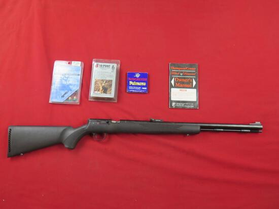 Thompson Center Black Diamond 50cal muzzleloader, never fired, with owners