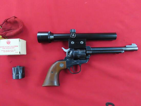 Ruger Single Six .22 Convertible revolver with 22LR & 22 Mag matching cylin