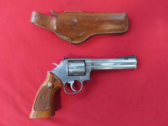 Smith & Wesson 357 Magnum, double action revolver, leather holster~4003