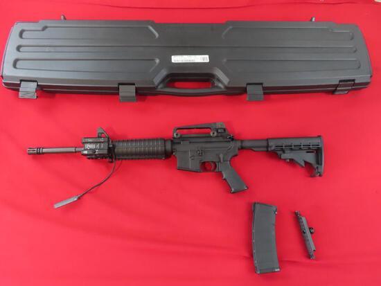 S&W M&P 15 5.56Nato semi auto rifle, 1/9 twist barrel, carry handle scope a