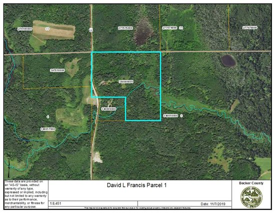 Parcel One: Becker County PID# 340009001, 33+/- Acres
