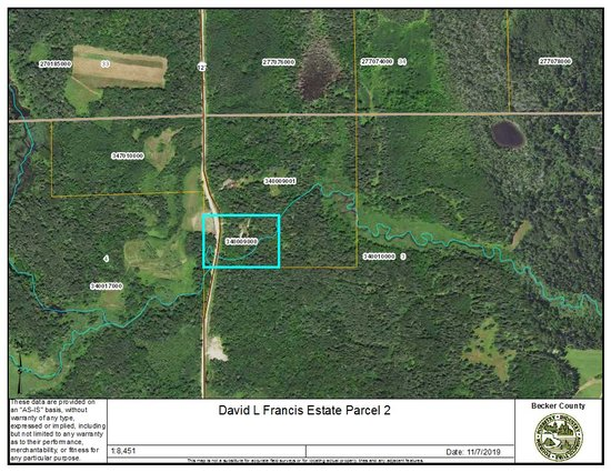Becker County Parcel Two: PID# 34000900, 6.7+/- Acres