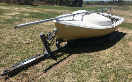 American Fiberglass 18 ft. Sailboat