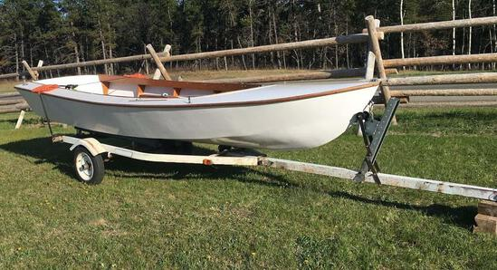 New Handcrafted 14' sailboat with rudder