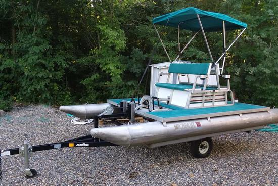 Paddle King Paddle Pontoon Boat Package
