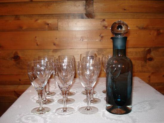Wine glasses and Glass Decanteur