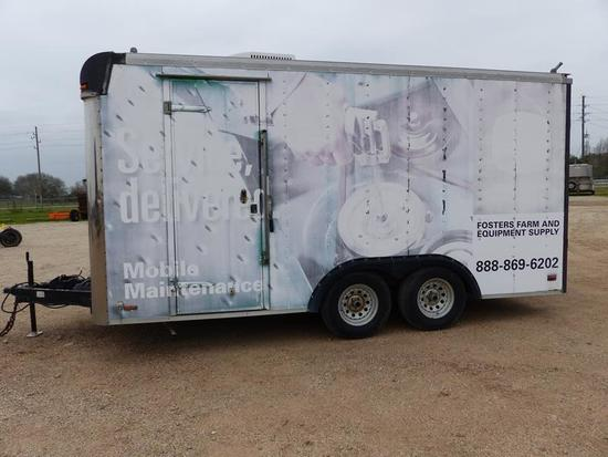 2000 PACE 16' ENCLOSED TRAILER