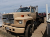 1990 FORD F800 FLATBED WINCH TRUCK