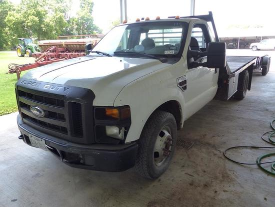 2008 FORD F350 XL FLATBED TRUCK