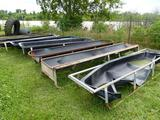 6 MISC POLY FEED TROUGHS