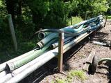 MISC ALUMINUM & POLY IRRIGATION PIPE W/STAND