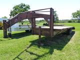1980 HANOVER 24' FLATBED TRAILER W/DOVE TAIL