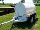 HOMEMADE PORTABLE WATER TANK ON DOLLY TRAILER