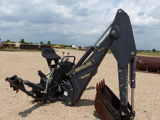 NEW HOLLAND BRADCO BACKHOE ATTACHMENT MODEL 611, SN-88251