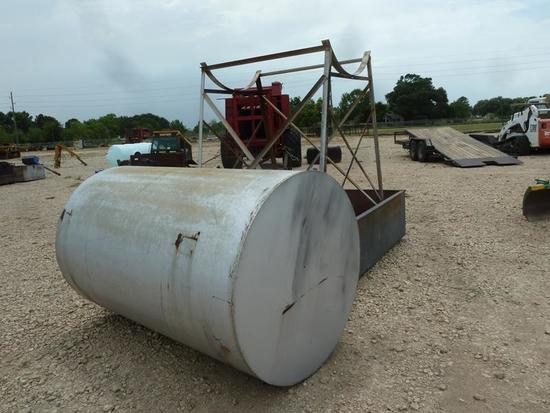 1500 GAL DIESEL FUEL TANK ON STAND W/CONTAINMENT