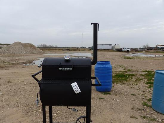 BBQ PIT ON TOP W/COFFIN BOTTOM