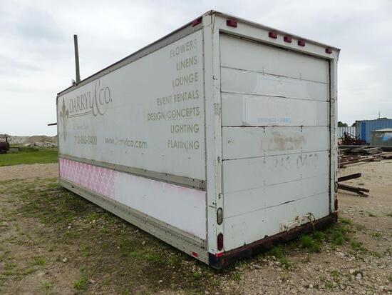 24' TRUCK BOX W/BACK ROLLUP DOOR