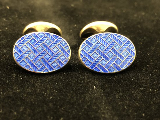 PAIR OF TIFFANY & CO. 925 SILVER CUFFLINKS (STAMPED 2003)