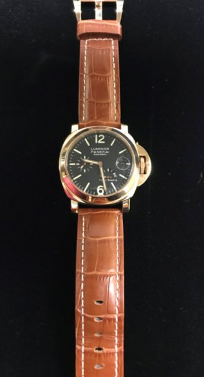 LUMINOR PANERAI AUTOMATIC W/LEATHER STRAP MEN'S WATCH (REPLICA)