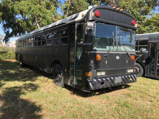2003 BLUE BIRD BODY CO. CUSTOM LUXURY SCHOOL BUS, CAT C7 DIESEL ENGINE W/ALLISON TRANSMISSION