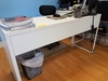 LOT CONSISTING OF: (2) PCS. WHITE LAMINATE DESK SET WITH ROLLING CHAIR