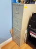 LOT CONSISTING OF: (1) 4 DRAWER METAL FILE CABINET &