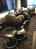 BLACK VINYL ROLLING OFFICE CHAIRS