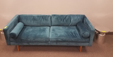GREEN VELOUR COUCH