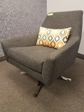 GRAY SWIVEL FABRIC CHAIRS **HIGH BID/AMOUNT WILL BE MULTIPLED BY THE QUANTITY**