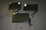 ASSORTED MONITORS WITH DESK MOUNTS **HIGH BID/AMOUNT WILL BE MULTIPLED BY THE QUANTITY**